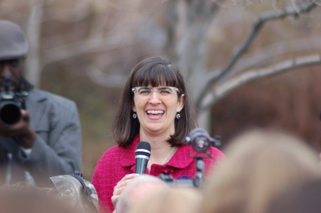 Kate Kelly (and a couple of others) addressed the event's attendees